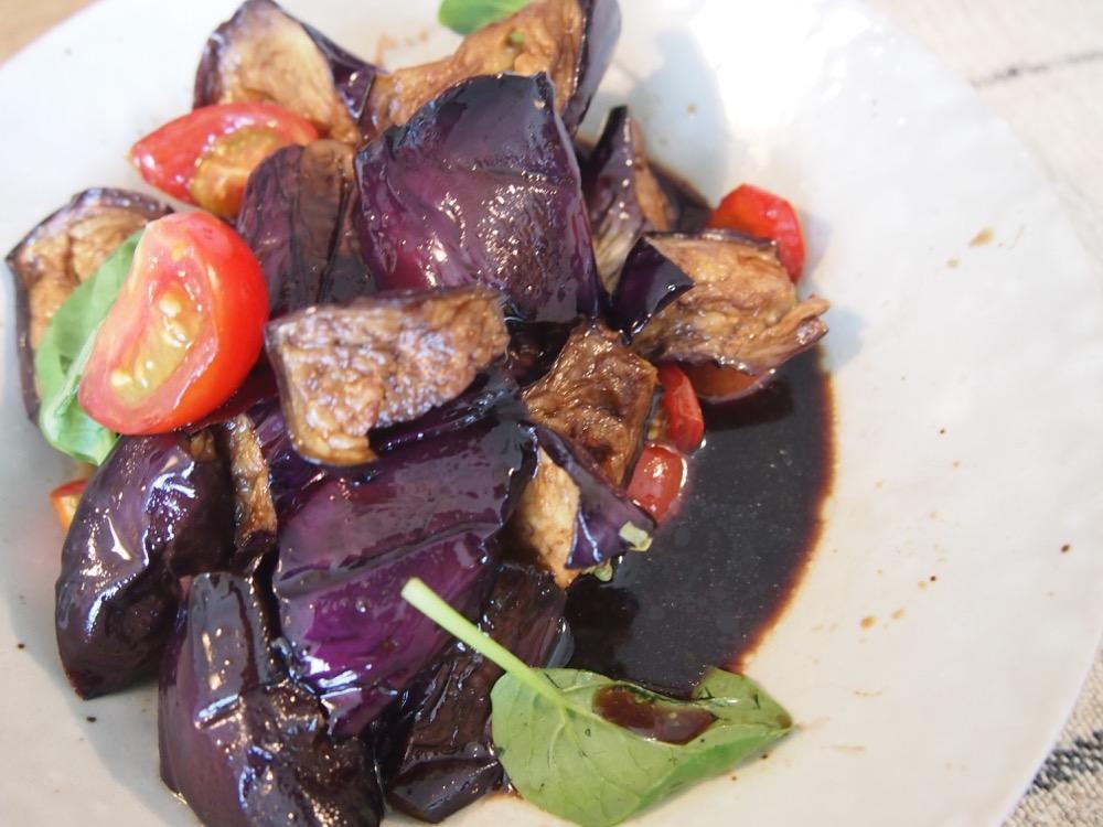 sachiful_kitchen 男の料理教室 茄子とトマトのパルサミコマリネ