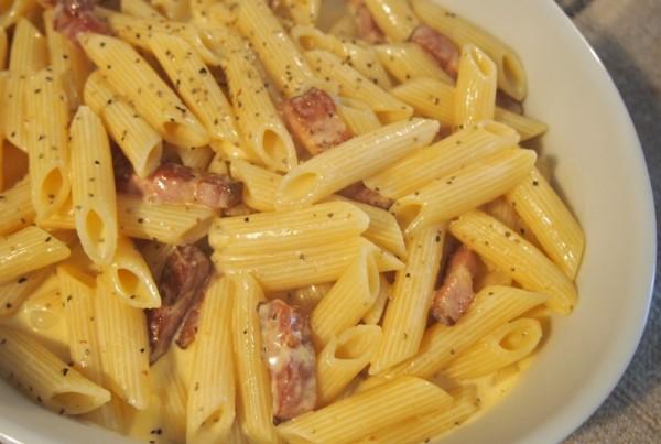 sachiful_kitchen 男の料理教室 カルボナーラ