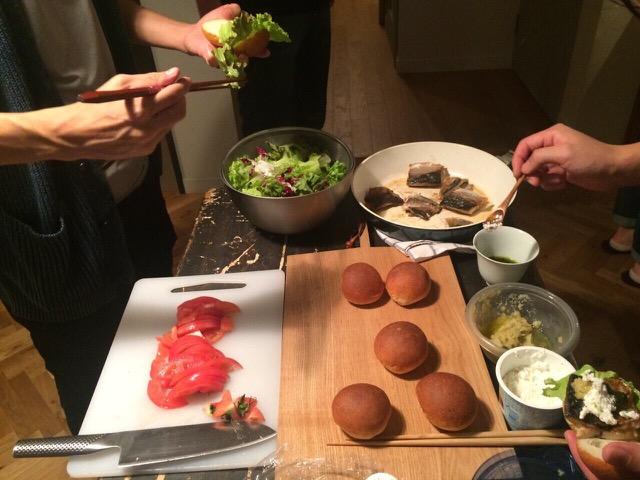清水紗智 男の料理教室 鯖とパン