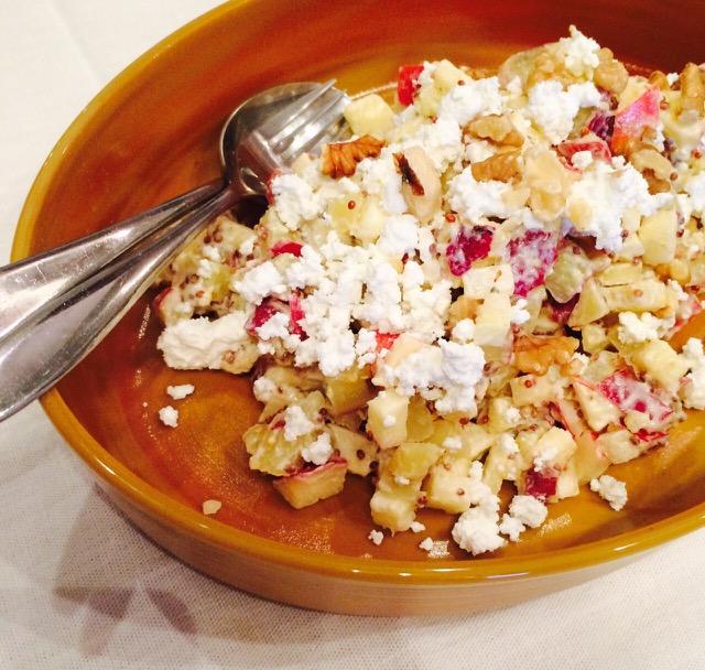 「さつまいもとりんごのサラダ」清水紗智料理教室アビエスフィルマ