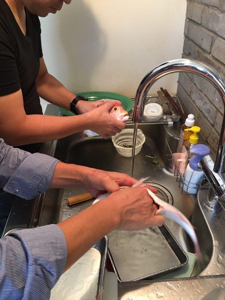 男の料理教室 清水紗智