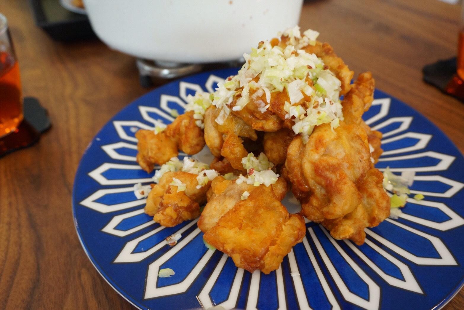 『鶏の唐揚げ 花椒香るネギソース』- 料理教室 2017年6月(おさらいクラス)