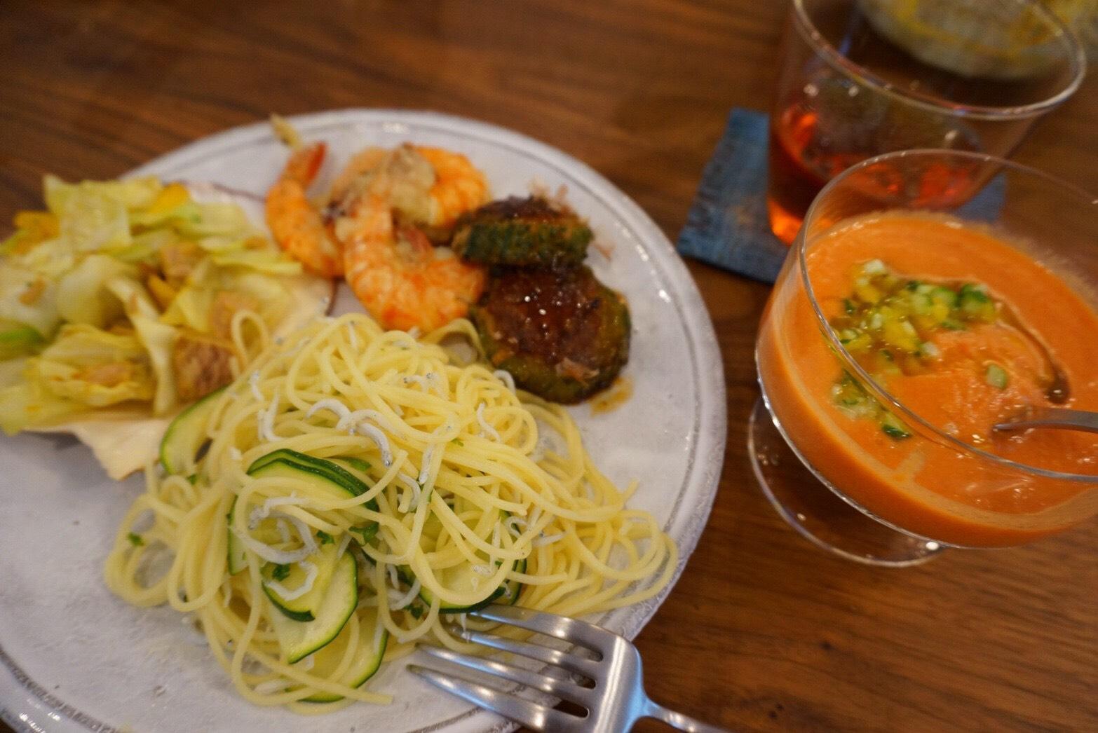 『夏野菜で世界を旅しよう♪』- 料理教室 2017年7月(通常クラス)