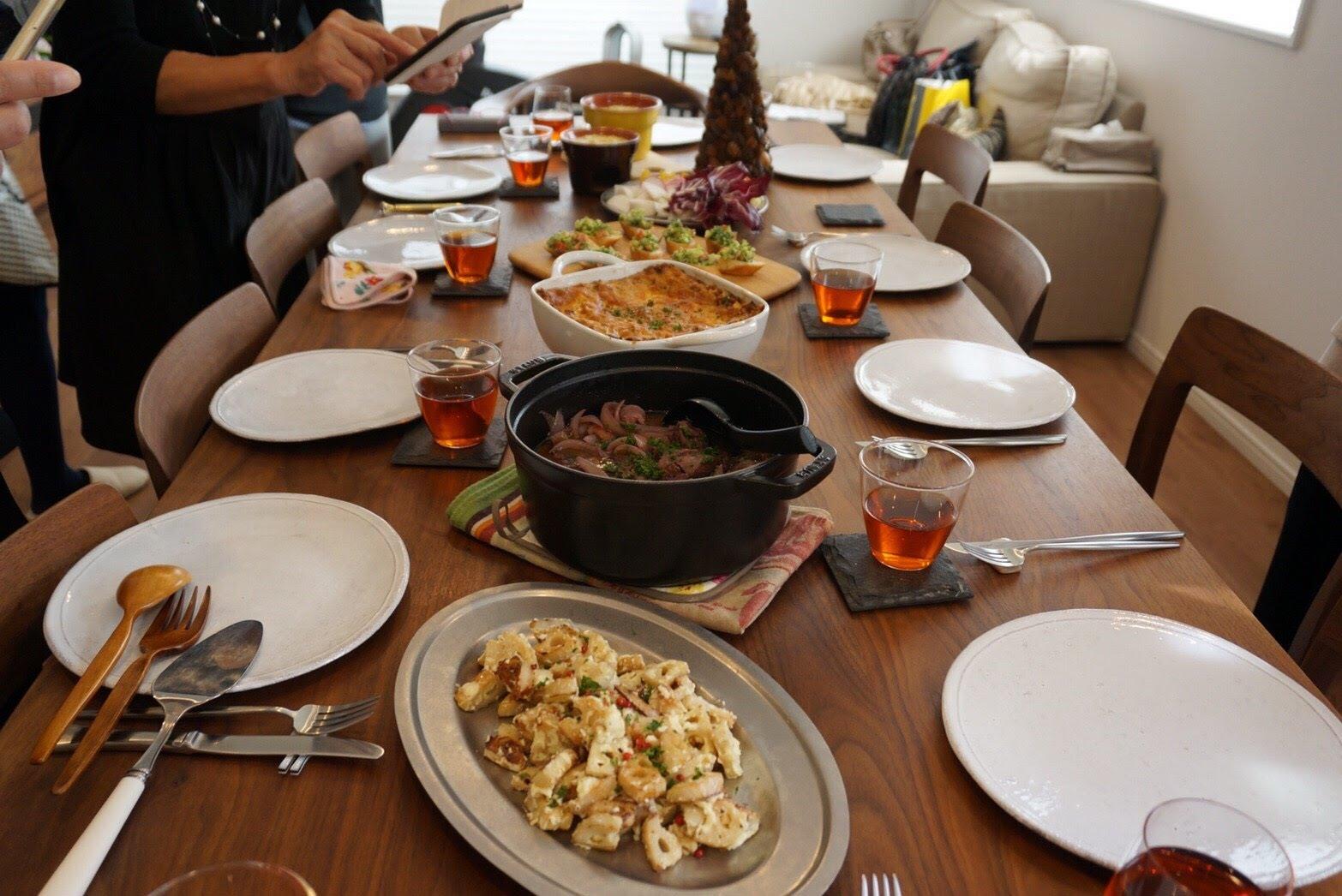 『クリスマスに向けてのお料理』- 料理教室 2017年11月(おさらいクラス)